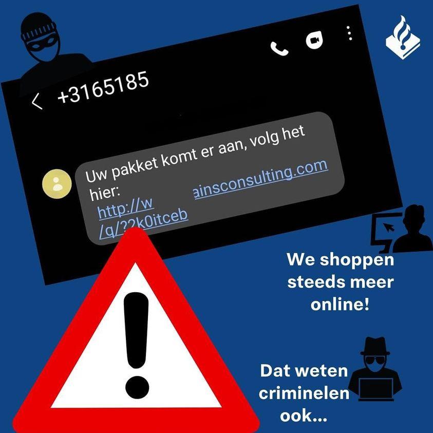 Waarschuwing politie: criminelen versturen sms om app te installeren