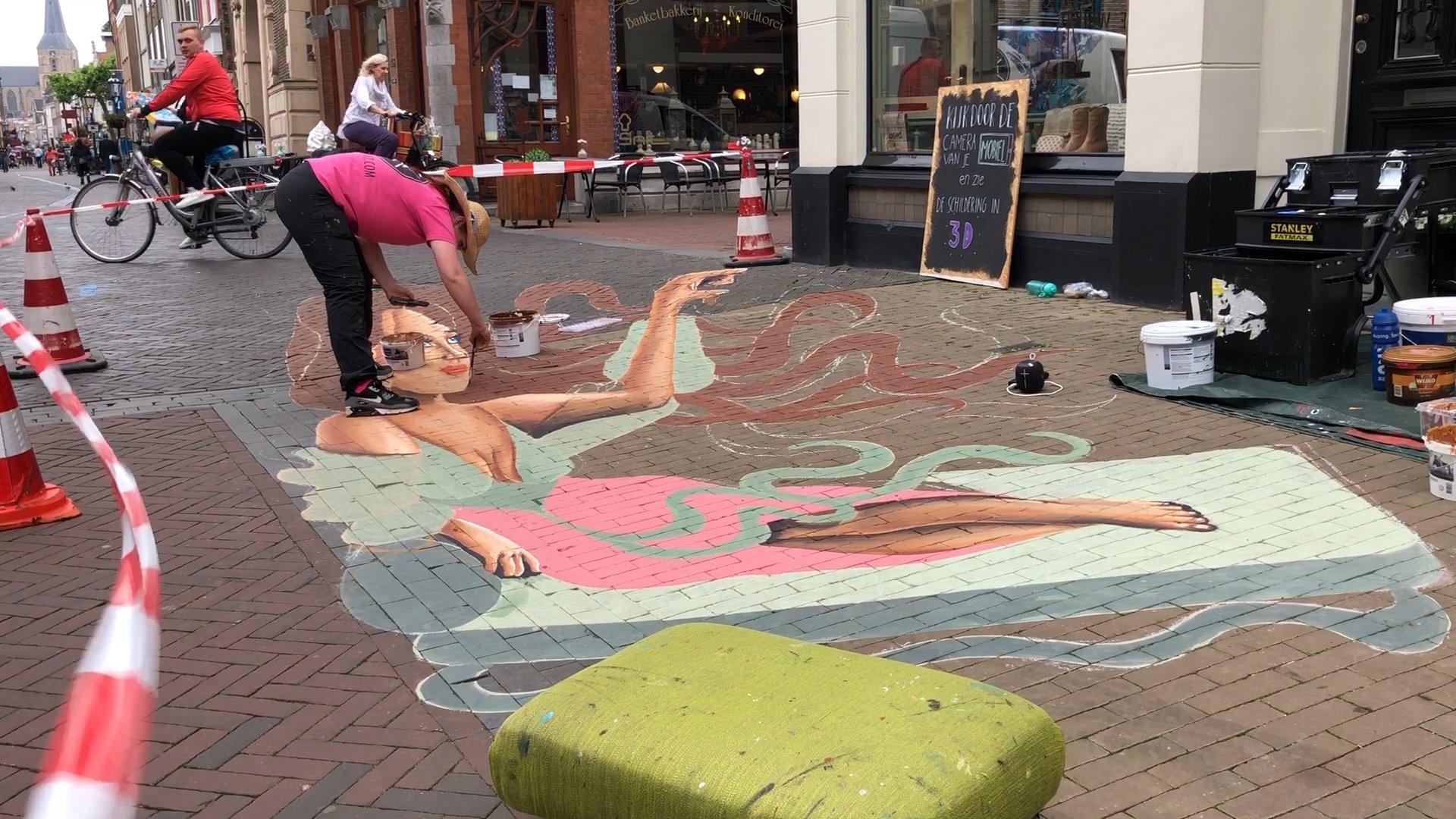 3D Street Art op de Oudestraat