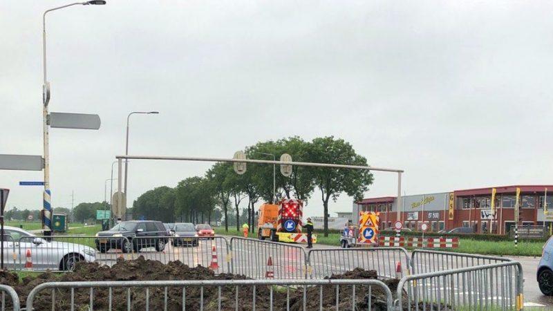 Ernstige verkeershinder Zwolseweg bij IJsselmuiden na aanrijding