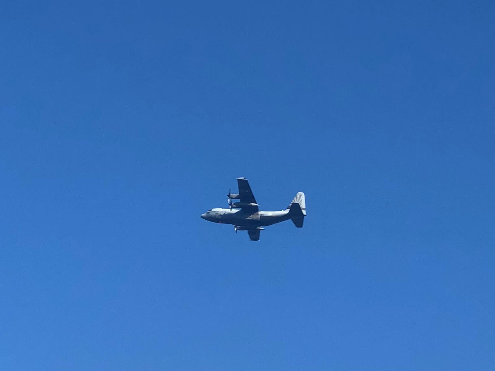 Luchtmachtoefening boven Kampen